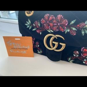 Gucci marmont limited edition crystal embellished